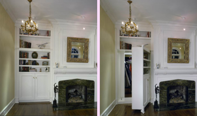 Artfully Concealed Closet