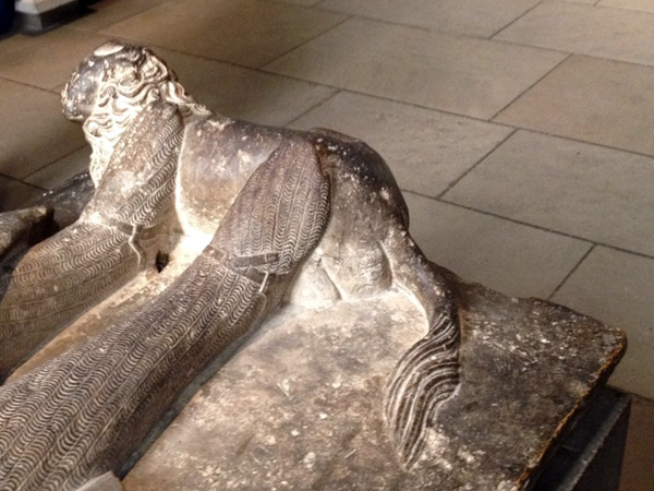 medieval lion sarcophagus